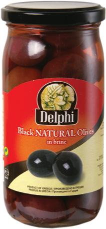 Черни натурални маслини Амфиса