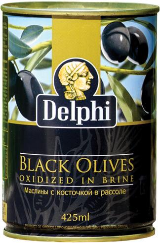 Черни маслини - тенекия 425 мл.