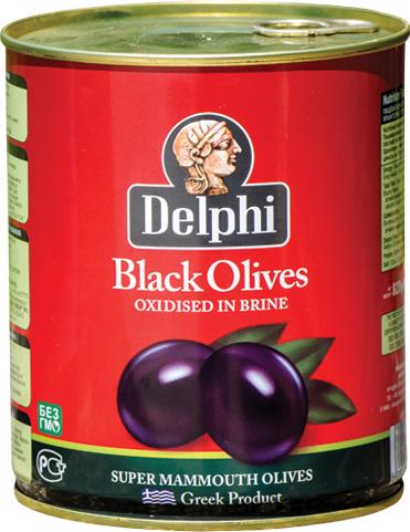 Черни маслини - тенекия 850 мл.